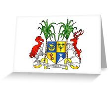 Coat of Arms of Mauritius Greeting Card