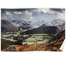 Storm Over the Head of Borrowdale, Cumbria Poster