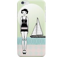 Sailboat Day 1920s Gatsby Flapper Girl  iPhone Case/Skin