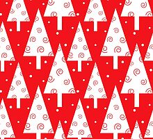 Red christmas trees pattern by mrhighsky