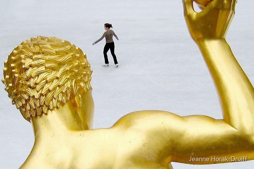 Rockefeller Plaza skater by Jeanne Horak-Druiff