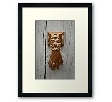 Knock, knock... Framed Print