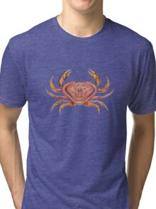 Dungeness Crab (Metacarcinus magister) Tri-blend T-Shirt
