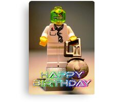Doctor Toxic with Chainsaw, Custom Minifigure Canvas Print