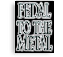 Pedal to the Metal, on BLACK, Cars, Speed, Motoring, Racing, Formula 1 Canvas Print