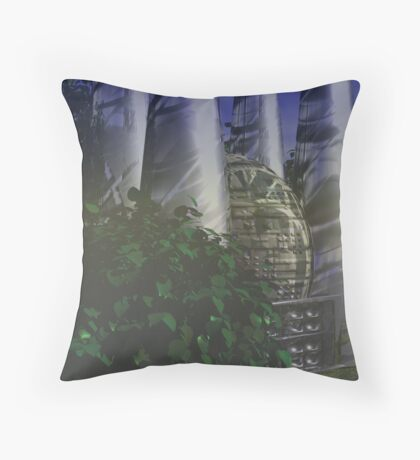 Habitat on Saron Plains Throw Pillow