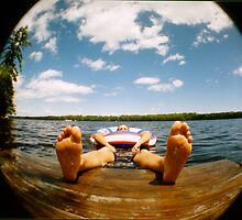 Fisheye Floating by Christine Corrigan