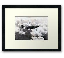 P51 1944 Air to Air Framed Print