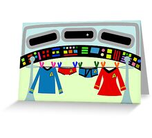 Star Treck Laundry Greeting Card