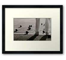 Behind all this whiteness.  Framed Print