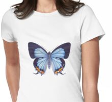 Imperial Blue Butterfly Womens Fitted T-Shirt
