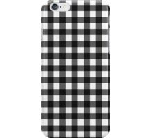 Black gingham iPhone Case/Skin
