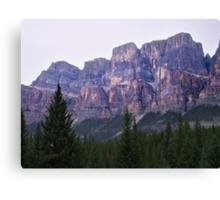 Castle Mountain Sunset Canvas Print