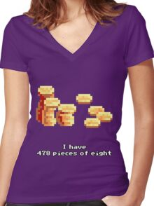 478 Pieces of eight Women's Fitted V-Neck T-Shirt