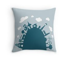 Mountain City Throw Pillow