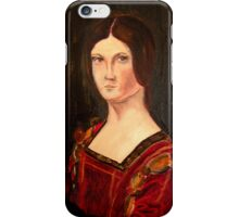 Renaissance lady oil paint study based on La belle Ferroniere iPhone Case/Skin