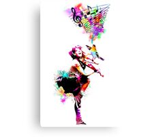 A Bird And The Violinist Canvas Print