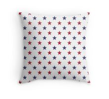 USA Flag Red and Flag Blue Stars Throw Pillow