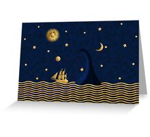 East of the moon... Greeting Card