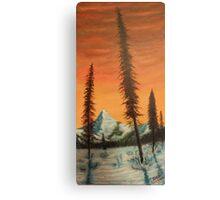 Pillars in the sunset Canvas Print