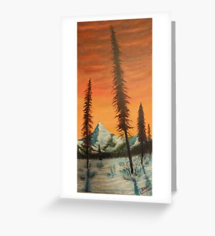 Pillars in the sunset Greeting Card