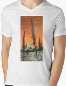 Pillars in the sunset Mens V-Neck T-Shirt