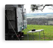 Camping at kingsview Canvas Print