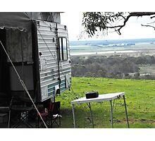 Camping at kingsview Photographic Print