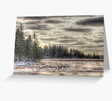 Winter in the Marsh Greeting Card
