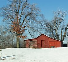 Red Barn in the White Snow...   by BCallahan