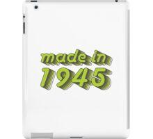 Made in 1945 (Green&Grey) iPad Case/Skin