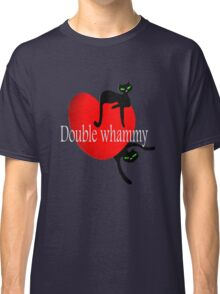 Double cat whammy cool t- shirt design Classic T-Shirt