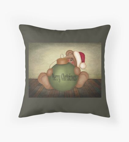 Beary Merry Christmas Throw Pillow