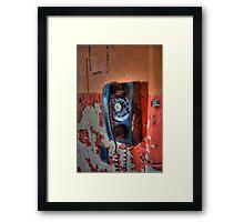 Hot Line Framed Print