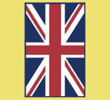 Mod British Union Jack by 'Chillee Wilson'  Kids Tee