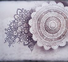Doily Spray by Michelle Walker