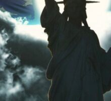Statue of Liberty with American Flag Sticker