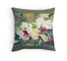 White Orchids- John 14:27 Throw Pillow
