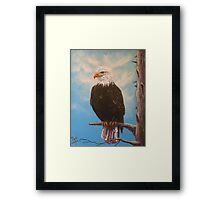 Vigilant Eagle Framed Print
