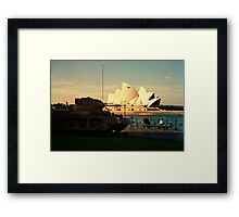 Opera House and little Tank Framed Print