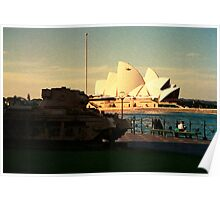 Opera House and little Tank Poster