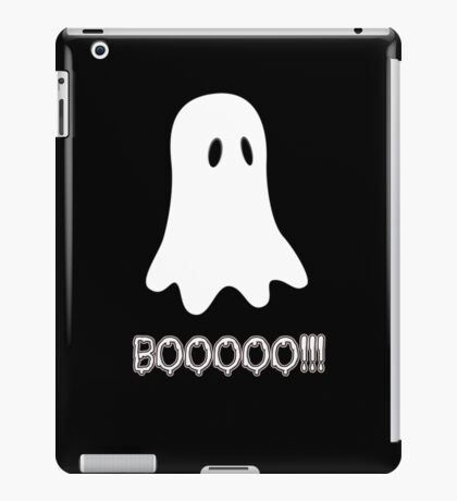 BOOOOO! Cute Ghost by 'Chillee Wilson' iPad Case/Skin