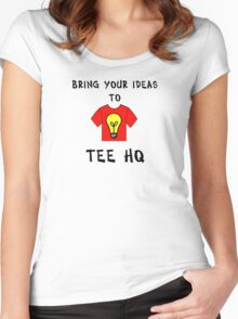 Ideas Women's Fitted Scoop T-Shirt