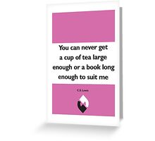 On Books - C.S. Lewis Greeting Card