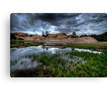 Green and Grey-Second Look Canvas Print