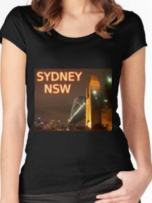 Sydney NSW Women's Fitted Scoop T-Shirt