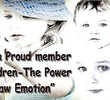Badge for children-the power of raw emotion group by Nancy  Vice