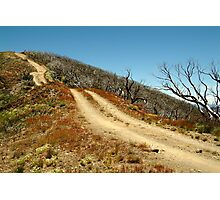 The Climb,Blue Rag Track Photographic Print