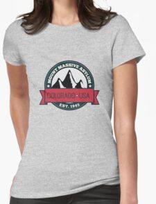 Outlast - Mount Massive Asylum Crest Womens Fitted T-Shirt