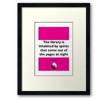 On Books - Isabel Allende Framed Print